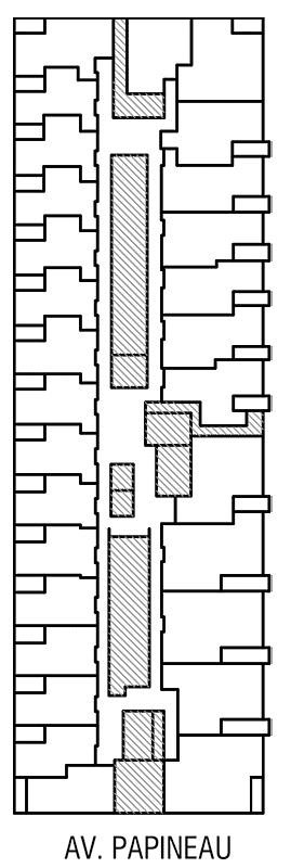 Disposition des condos locatif de l'Étage 1 de Innova 2
