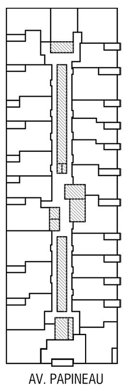 Disposition des condos locatif de l'Étage 2 de Innova 2