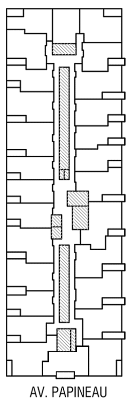 Disposition des condos locatif de l'Étage 3 de Innova 2