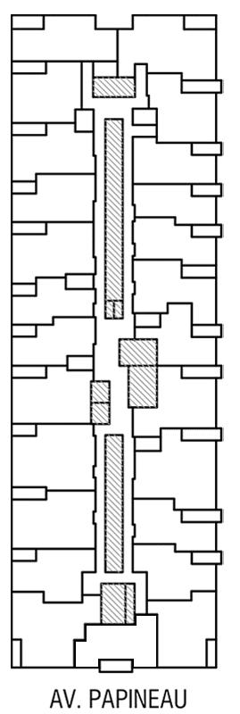 Disposition des condos locatif de l'Étage 4 de Innova 2