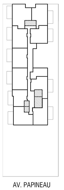 Disposition des condos locatif de l'Étage 5 de Innova 2